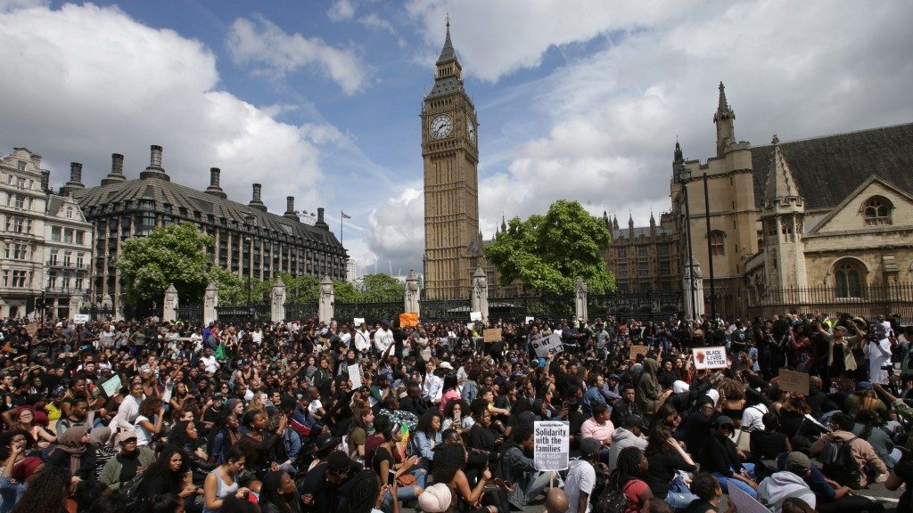U.K. demonstrates for Black Lives Matter